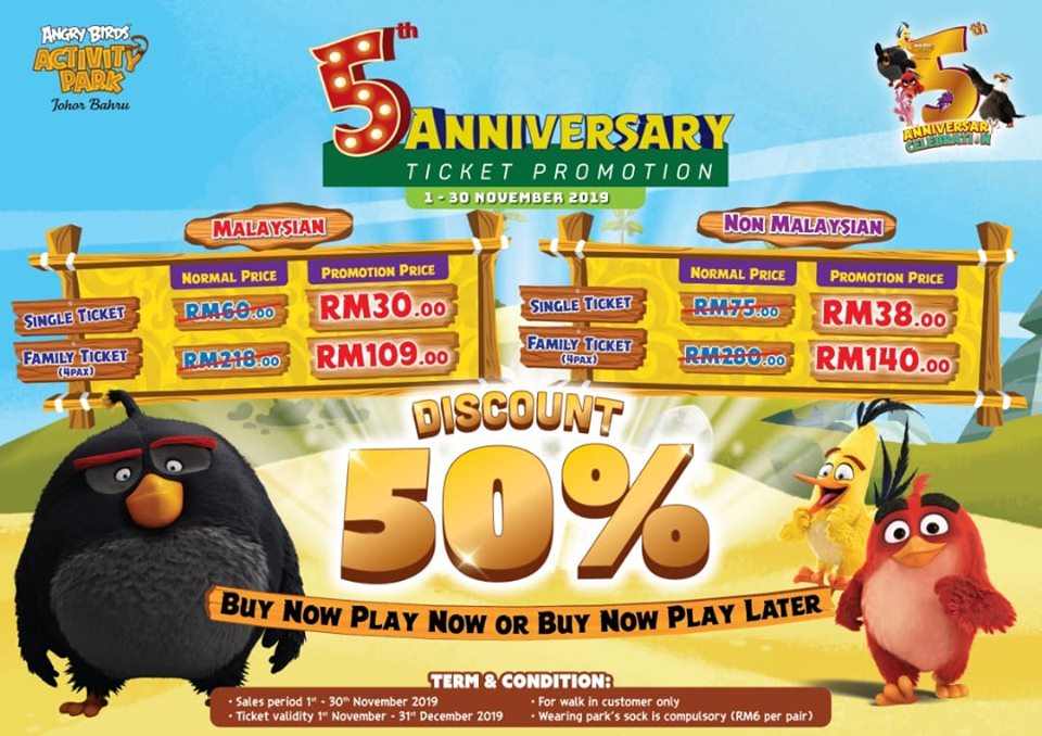 Angry Birds Activity Park 5th Anniversary