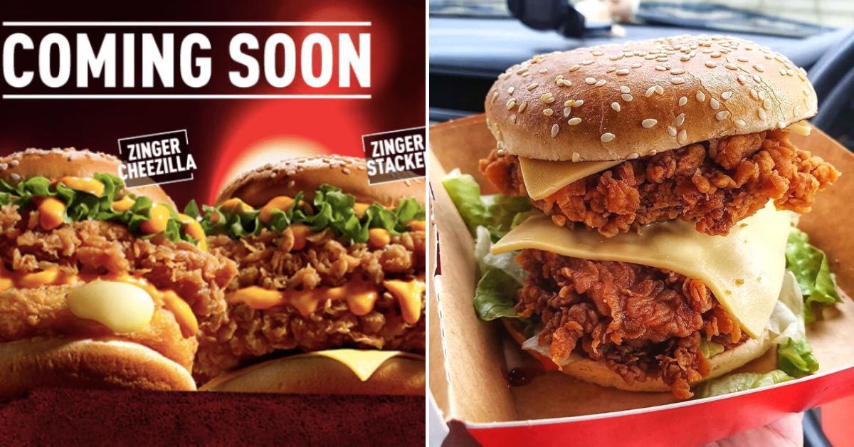 NEW: KFC Zinger Cheezilla & Zinger Stacker Available From ...