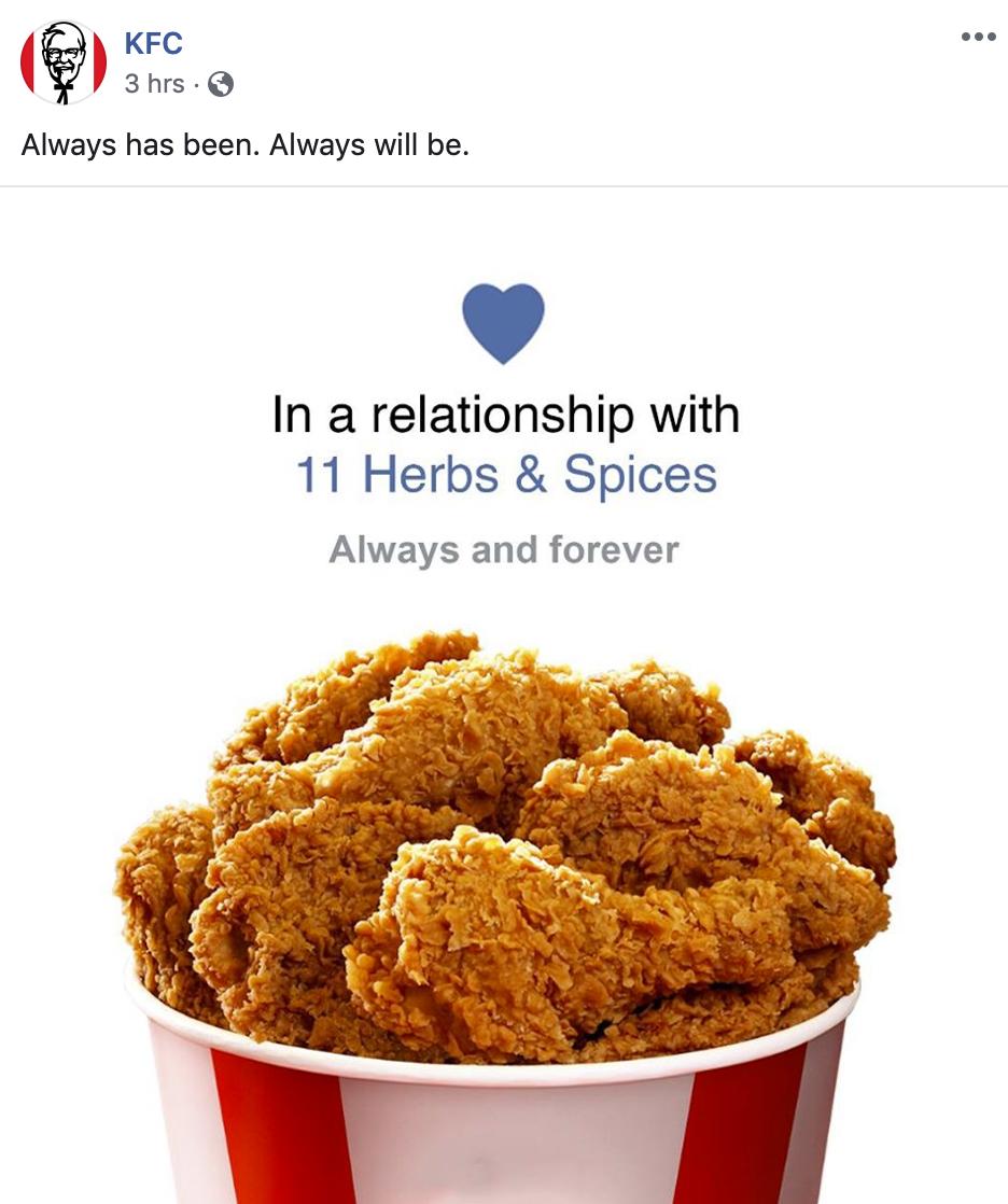 KFC reacts to Pizza Heart