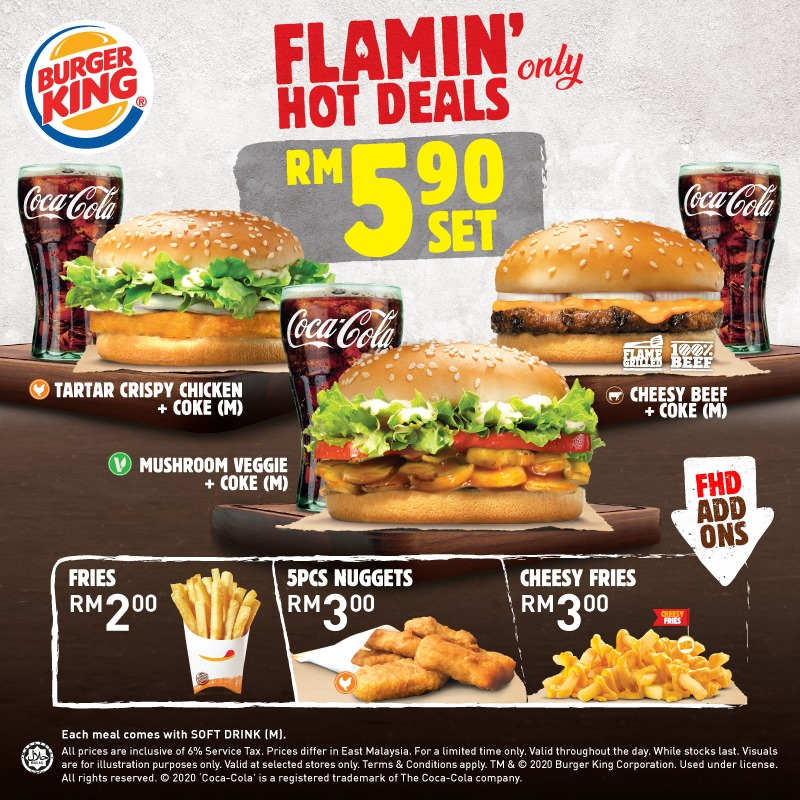 Have A Hearty Meal With Burger King Flamin Hot Deals For Only Rm5 90 Johor Foodie